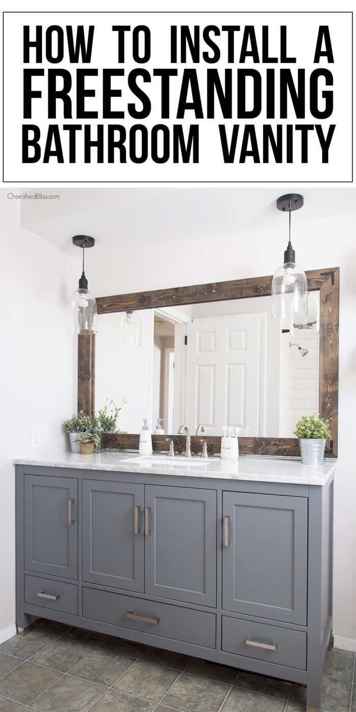 how to install a freestanding bathroom