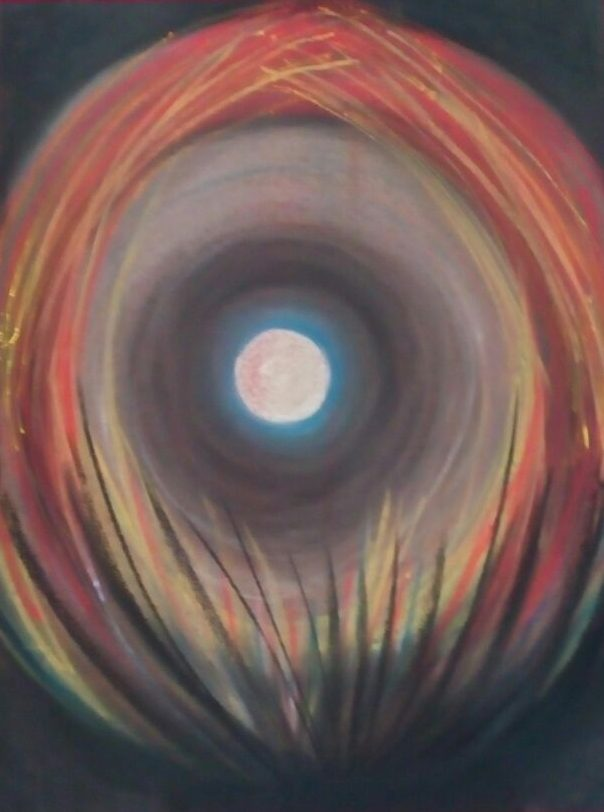 """Sophy Cherkov, """"Nightmare"""", Crayon"""