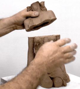 הכנת פסל לשריפה