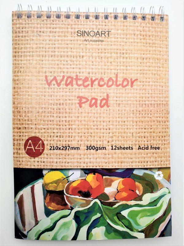 בלוק ציור לצבעי מים A4
