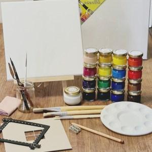 קיט ציור מקיף בצבעי אקריליק