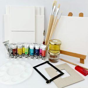 קיט ציור מקיף בצבעי שמן
