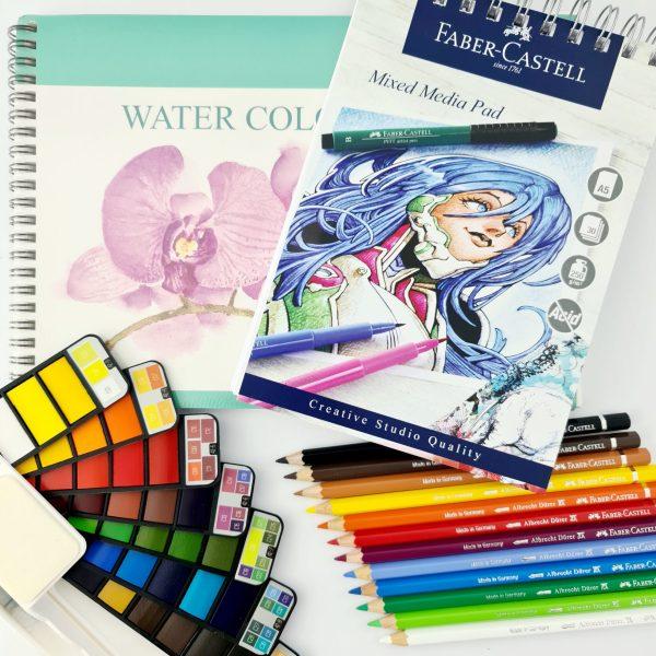 קיט ציור מקיף בצבעי מים