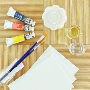 Mini oil painting kit