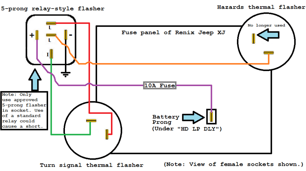 5-prong Relay-style LED Flasher Conversion