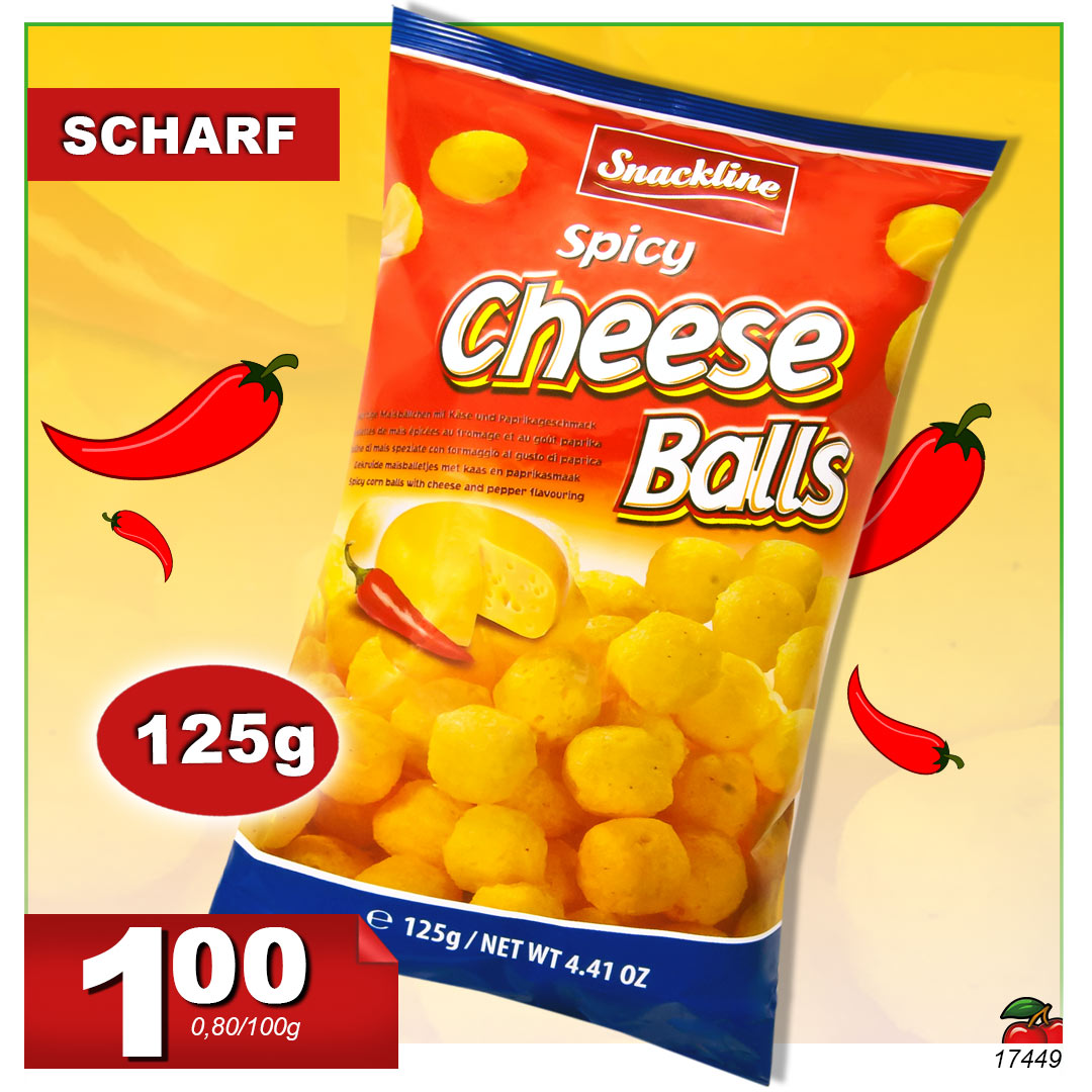 Snack Spicy Cheese Balls, 125g