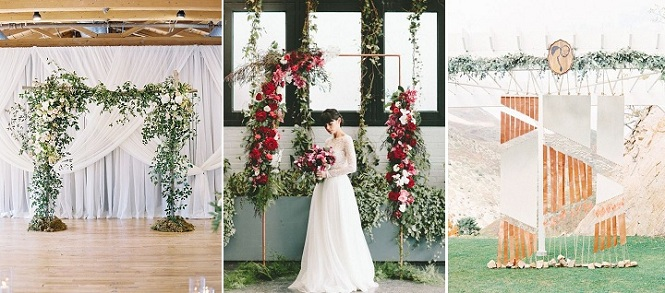 23 Stunning Wedding Ceremony Arches and Backdrops