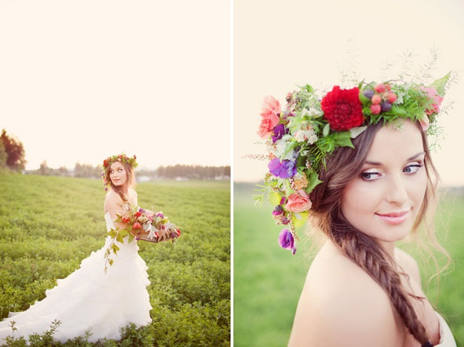 Hold Your Head Up High: Bridal Flower Crowns And Wreaths