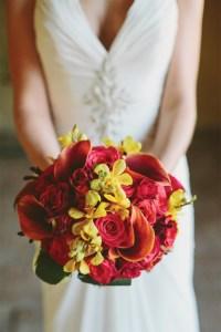 deep colored bouquet