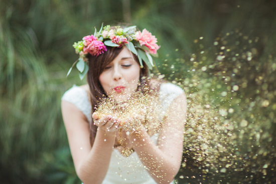 Color and Sparkle: Kate Spade Wedding Theme