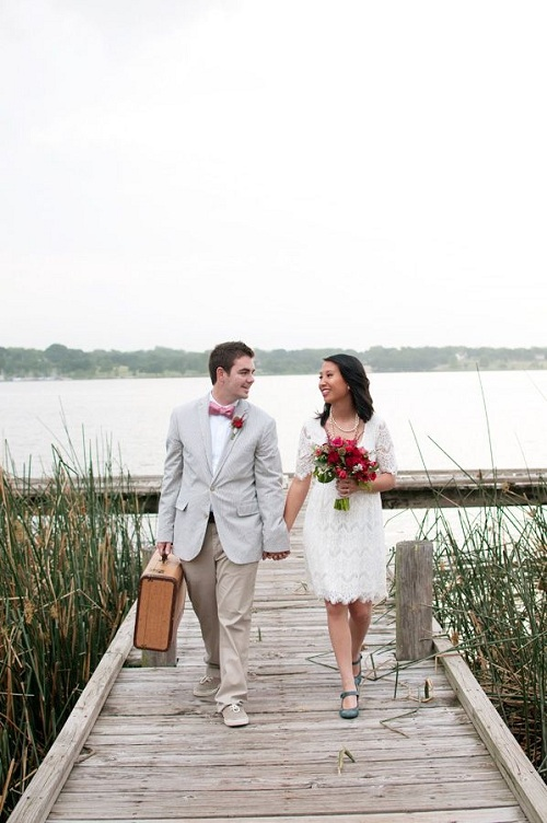 Vintage Travel Wedding 1
