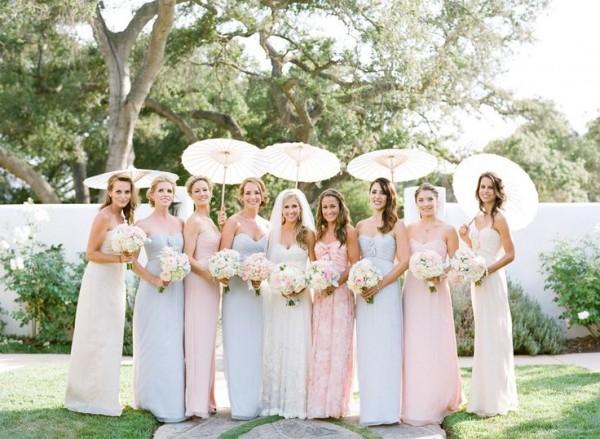 Pastel Bridesmaid Dresses 8