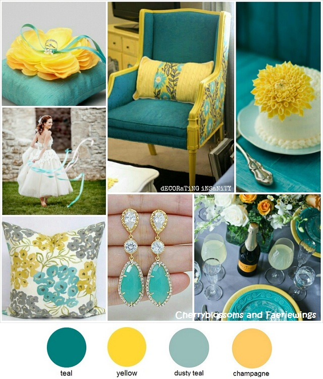 Color Series #15 - Teal + Yellow