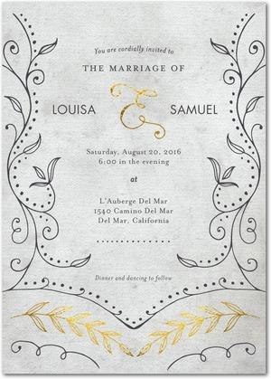 graceful_vines-signature_white_wedding_invitations-marchesa-flint-gray