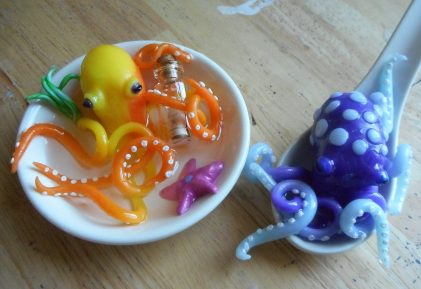 Polymer Clay Octopuses