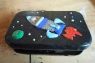 Polymer Clay rocket tin
