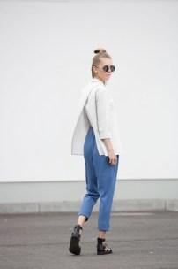 'Sophia White' Bluse mit Rückenausschnitt