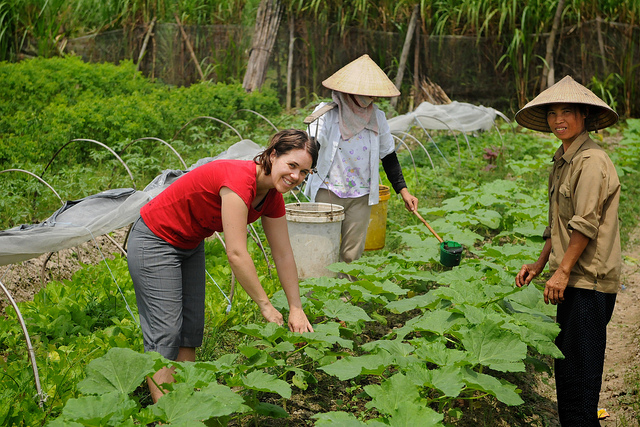 """Australian volunteer Tamara Baillie worked as a business development officer with the Thanh Xuan Organic project in Vietnam, 2010. Photo: Tamara Baillie / AusAID"" by Department of Foreign Affairs and Trade is licensed under CC BY 2.0"
