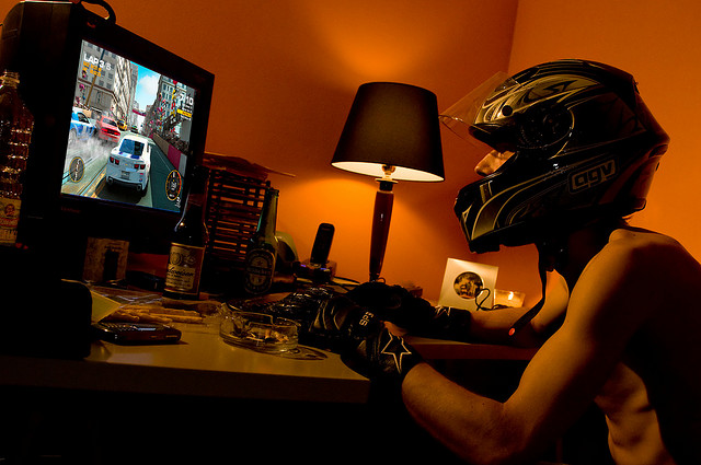 """Racing games addicted"" by Nick Grosoli is licensed under CC BY-ND 4.0"