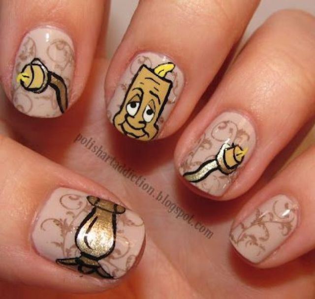 Beauty and the Beast Nails 4