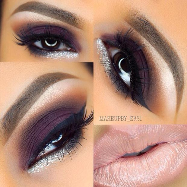 Pink and Purple Eye Makeup Looks 20