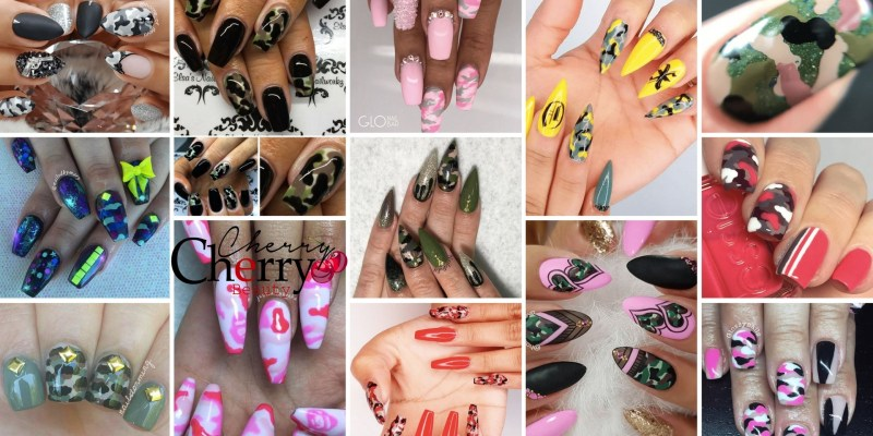 31 camouflage nail designs cherrycherrybeauty solutioingenieria Choice Image