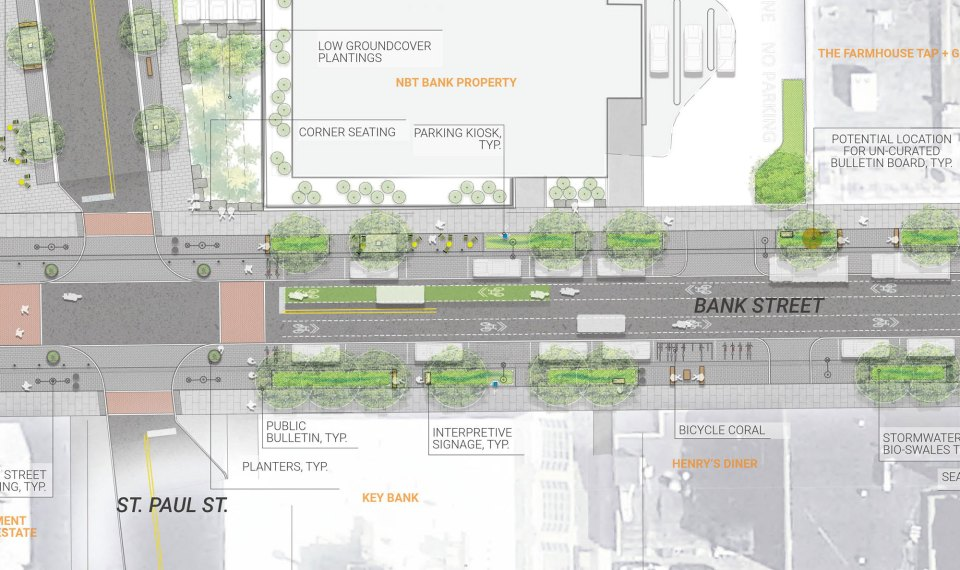 New design concept for Bank Street