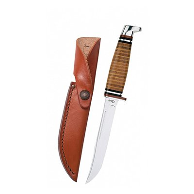 316-5 SS Leather Hunter w/Sheath