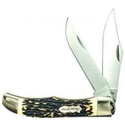 Folding Knife w/Leather Sheath
