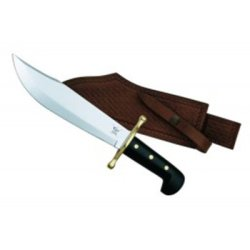Bowie - Black Synthetic Handle w/Leather Sheath