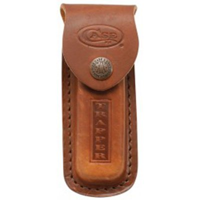 Sheath Leather Medium Lite Brown XX Snap Embossed Case/Trapper