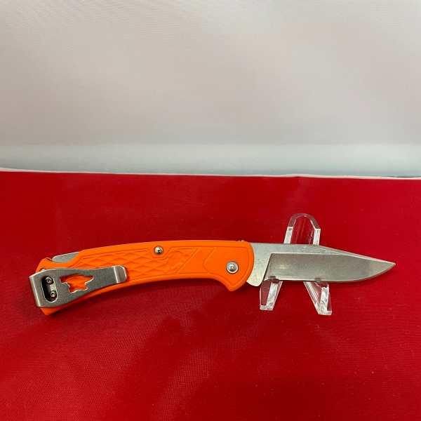 Slim Select Ranger Orange Handle Nail Notch