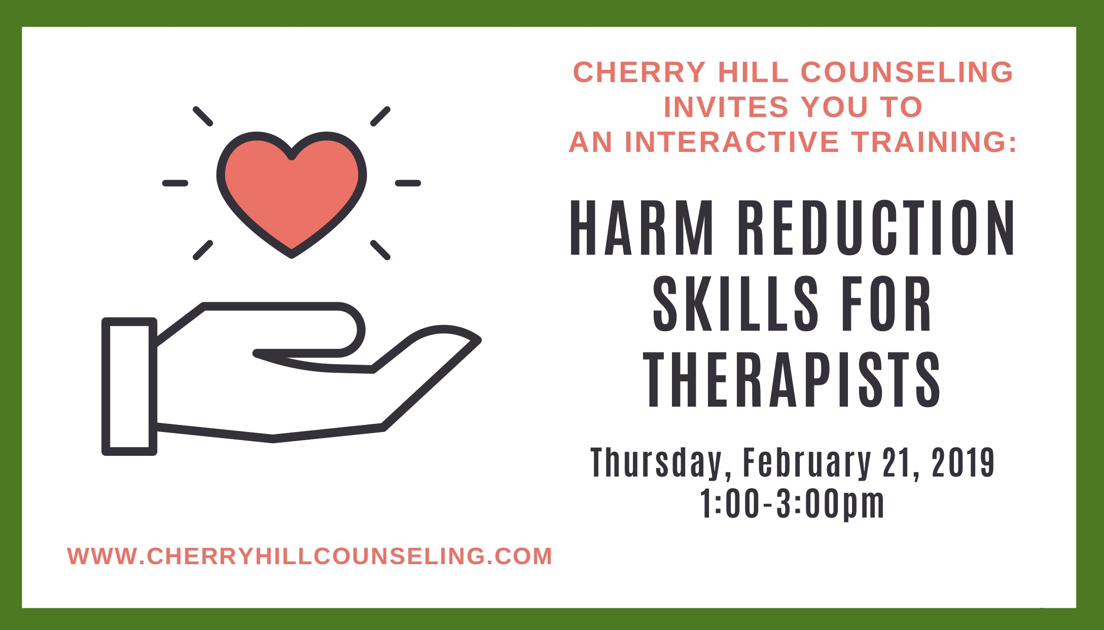 Harm Reduction Skills For Therapists
