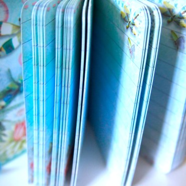 Pretty blue pages