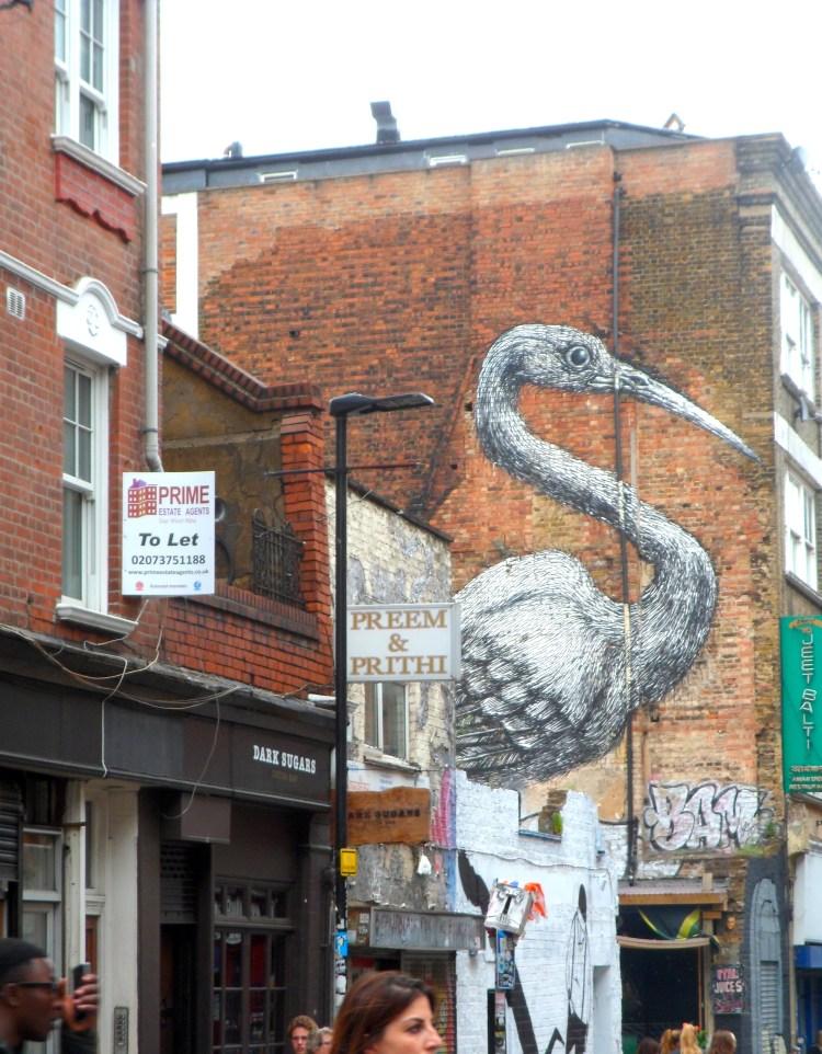 Brick Lane Bird Street Art Graffiti London