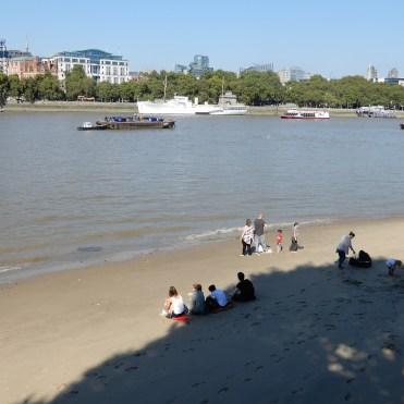 Southbank London River Thames beach DSCN7860