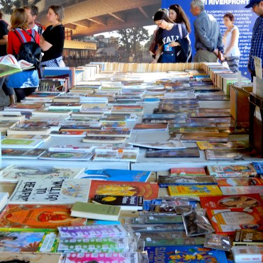 Southbank London River Thames book market stall DSCN7853