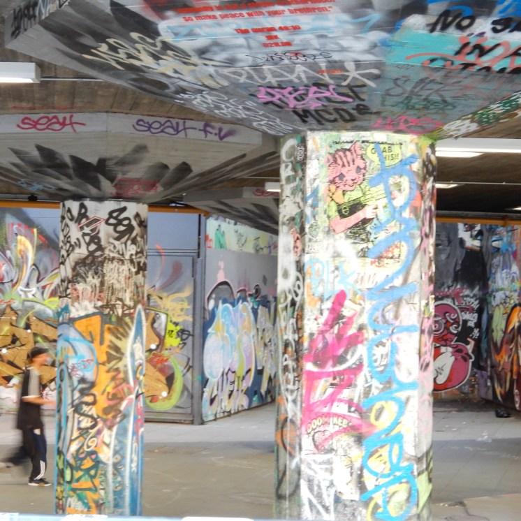 Southbank London River Thames grafitti DSCN7939