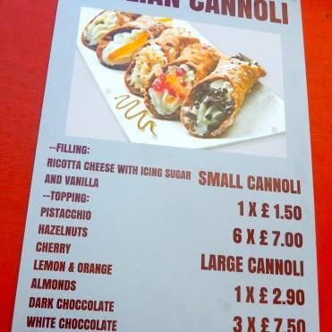 Southbank London River Thames Sicilian Cannoli Food DSCN7800