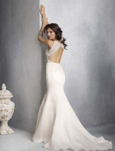 mermaid wedding gown with straps