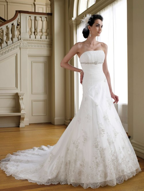 lace a-line wedding dress from tulle