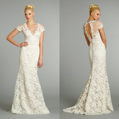 lace wedding dress with open back