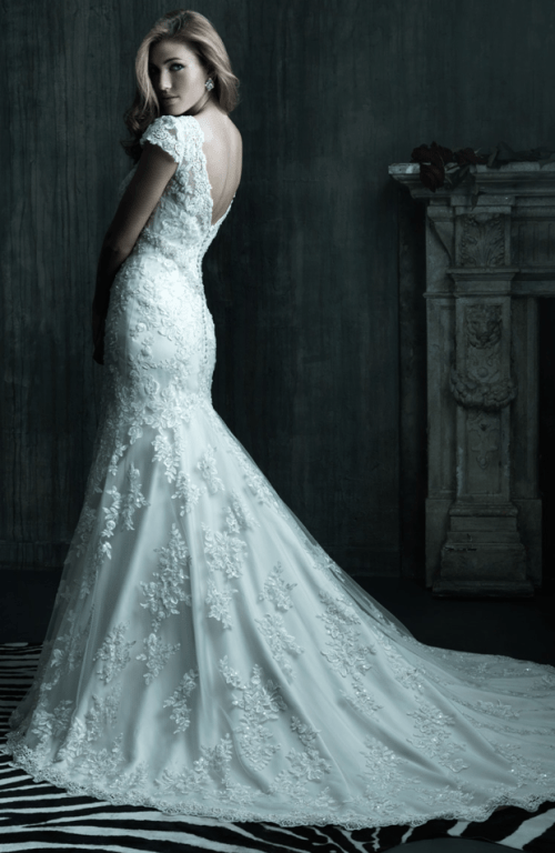 lace wedding dresses with long trains
