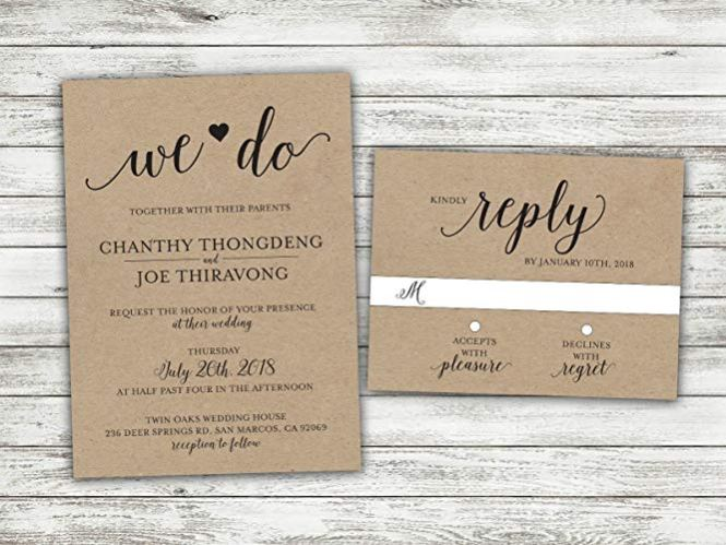 Most Unique Rustic Wedding Invitations
