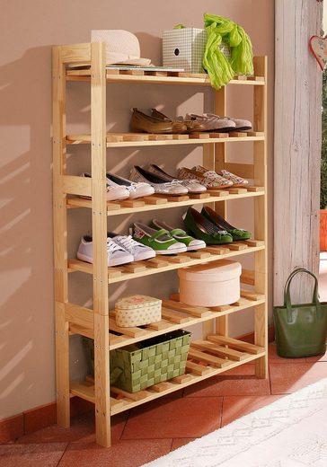 Schuhregal in massiv Holz aus dem Hause Home affaire