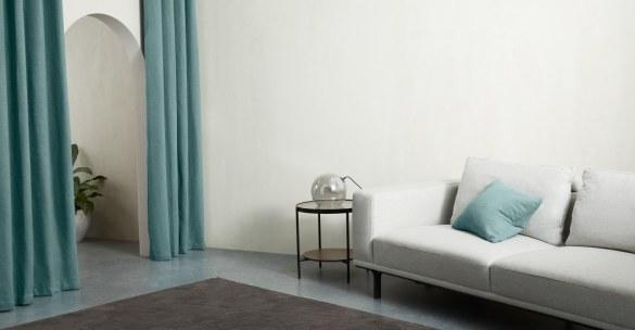 Vorhangschals Marzia himmelblau 135 cm x 260 cm