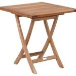 10% sparen – GARTENTISCH ECKIG Holz, Metall Edelstahlfarben, Teakfarben – nur 206,10€