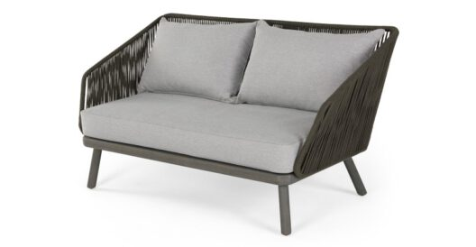 Alif 2-Sitzer Gartensofa Grau