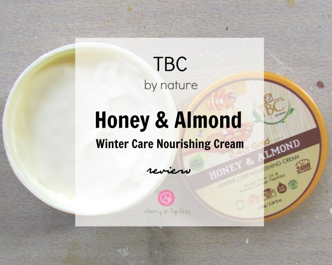 TBC by Nature Honey & Almond Winter Care Nourishing Cream| Review