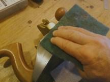 Polishing the steel before waxing